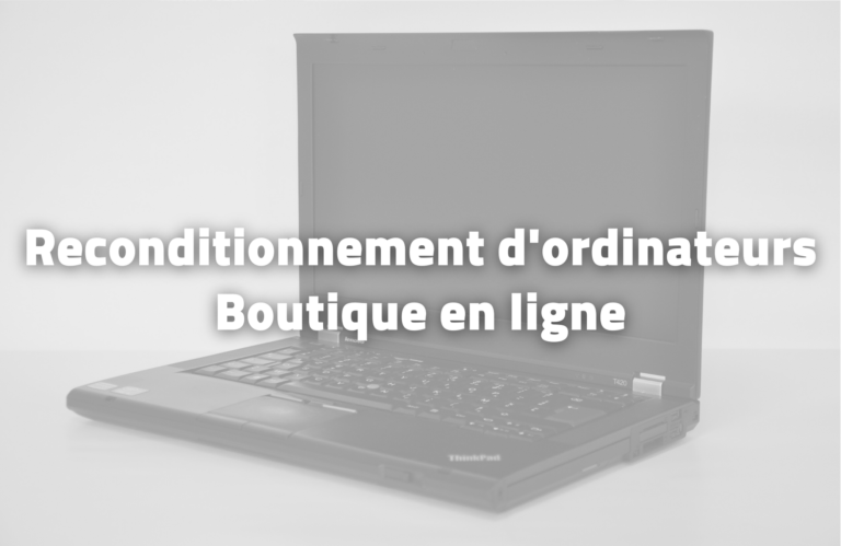 Reconditionnement d'ordinateurs - TAE - Ecosolidaire