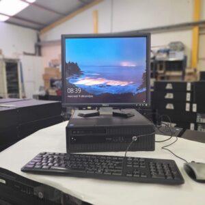 PC fixe HP Prodesk 600G1 format desktop -19 pouces – I5 – Disque dur HDD- 320 Go – RAM 4Go